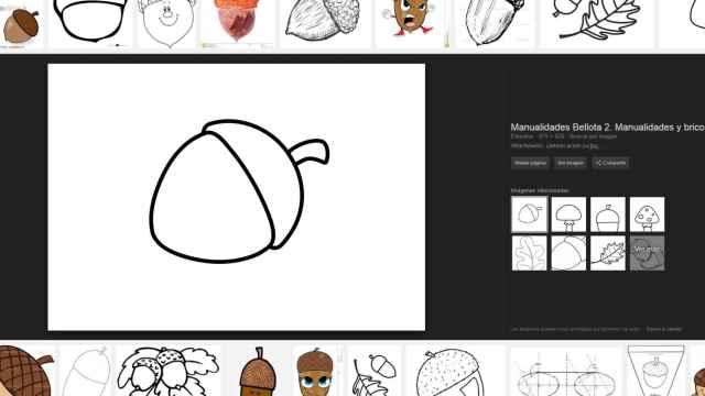 Dibujo de una bellota procedente de la página Educima.com