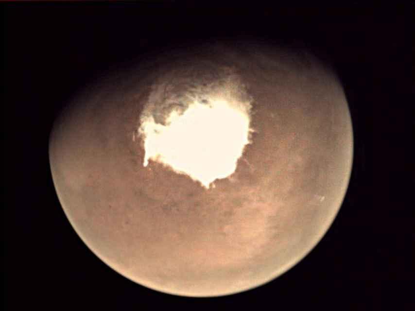 Foto de Marte hecha desde el Trace Gas Orbiter.