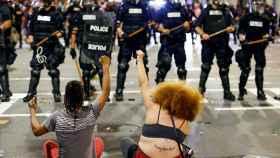 Una imagen de las protestas en Charlotte durante septiembre.