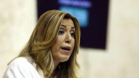 Susana Díaz, durante el debate en el Parlamento andaluz.