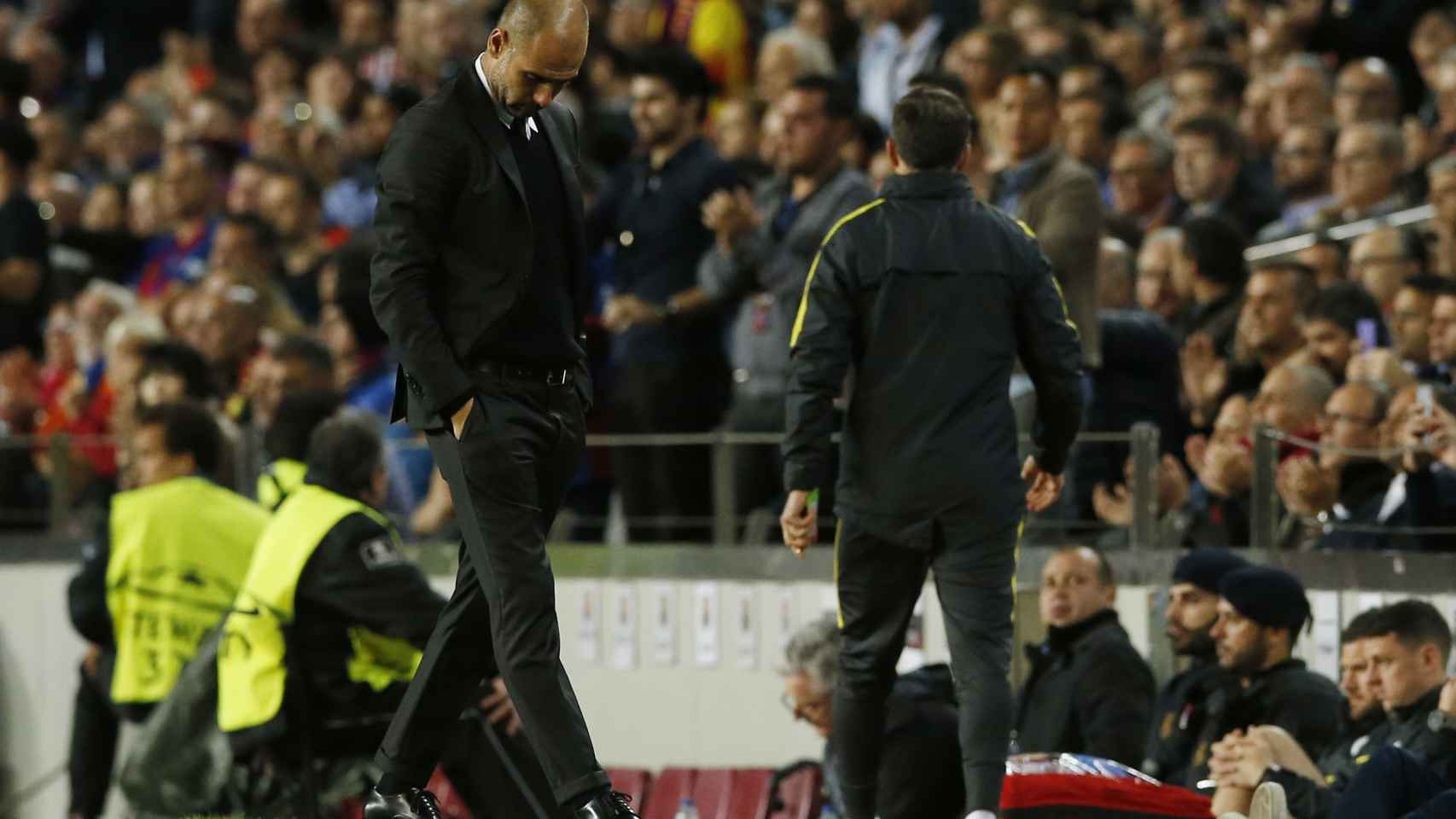 Guardiola en el Camp Nou.