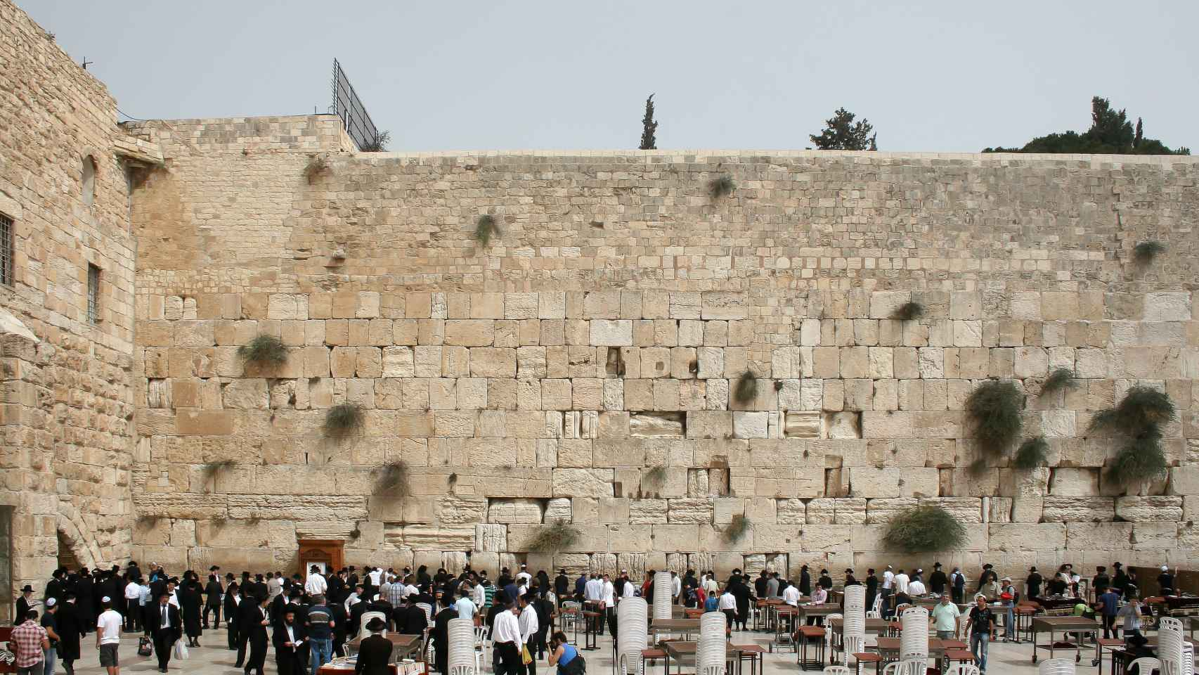 El Muro de las Lamentaciones en Jerusalén.