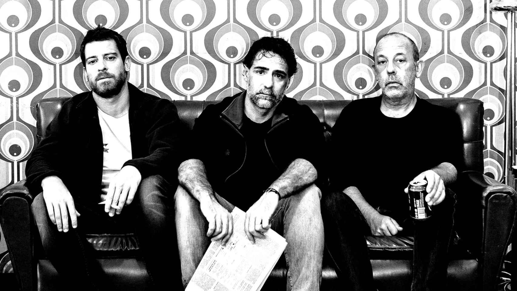 Chema del Barco, Javier Navares y Manuel Baqueiro en un cartel promocional de la obra.