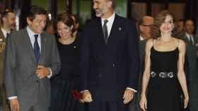 Los reyes, con Javier Fernández este jueves en Oviedo