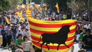 Manifestación en favor de la fiesta taurina en Cataluña