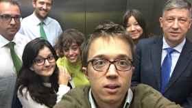 La imagen que el número dos de Podemos ha tuiteado.