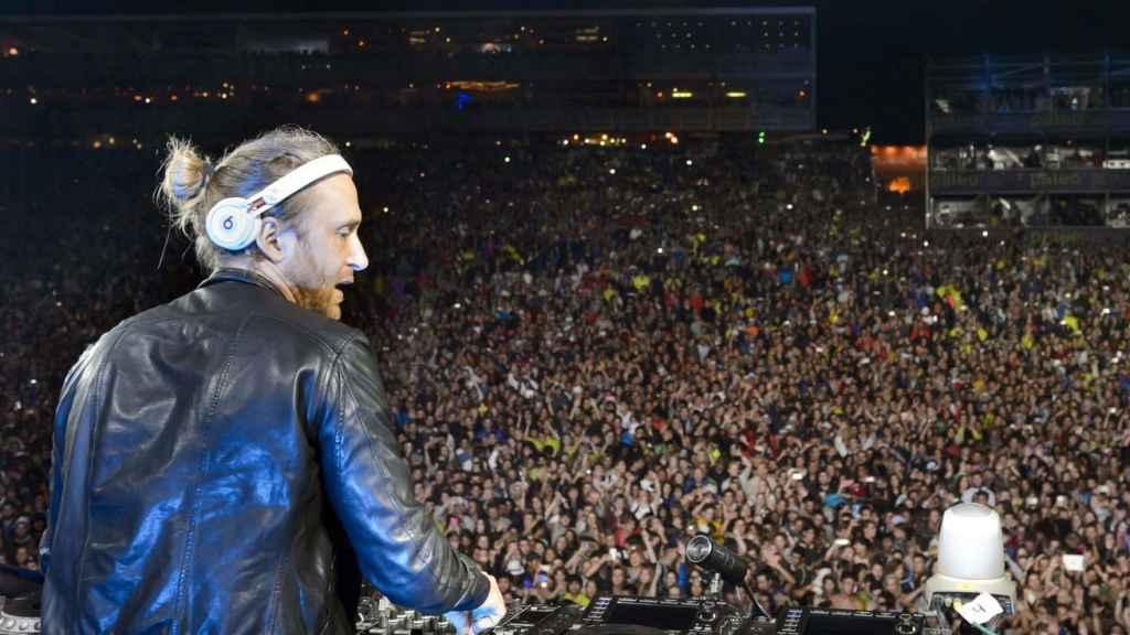 David Guetta durante una actuación en Suiza.