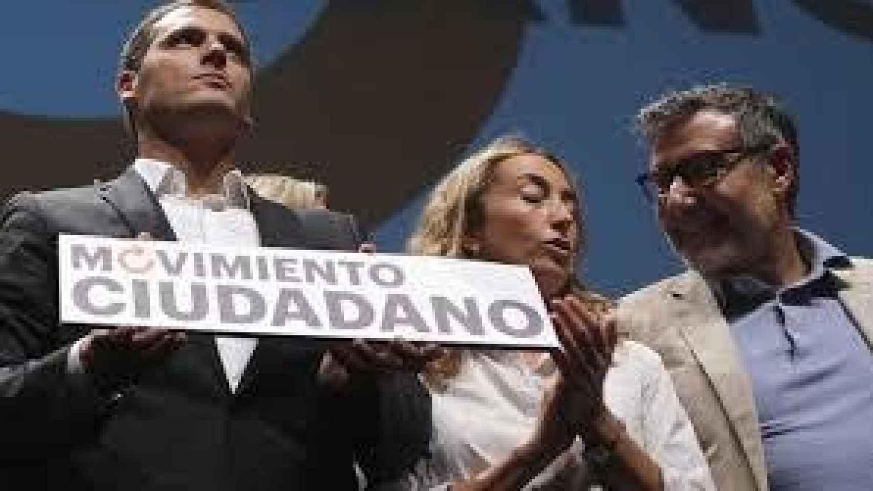 Carolina Punset con Albert Rivera en un acto de Ciudadanos.