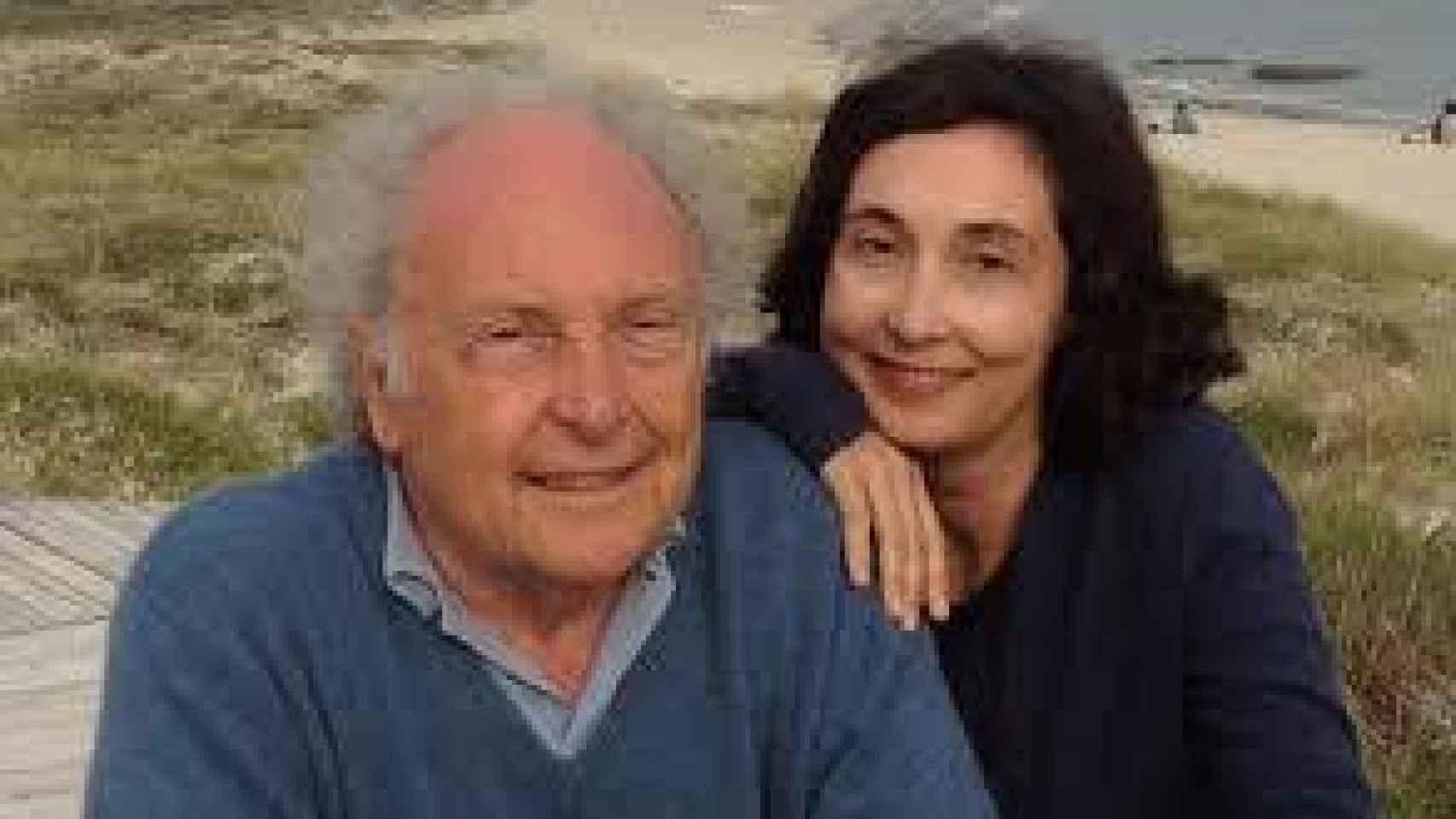 Eduard Punset con su hija Elsa.