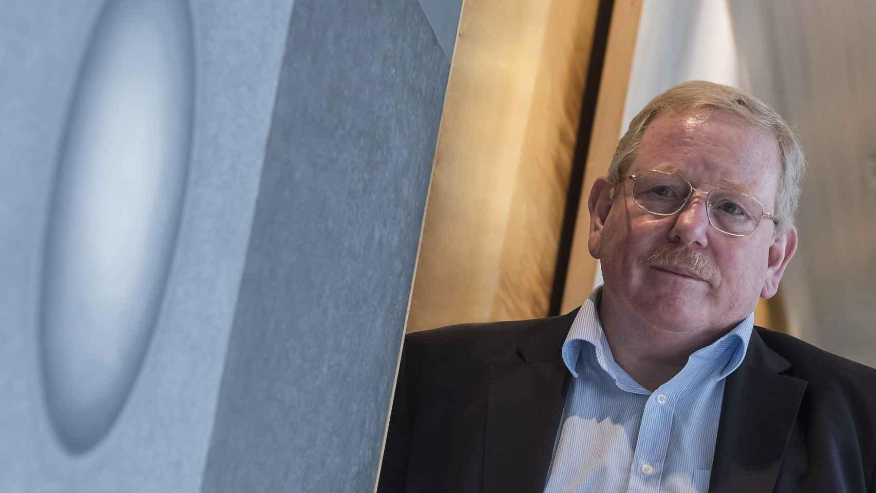 Reinhard Genzel, en la sede del Paseo de Recoletos.