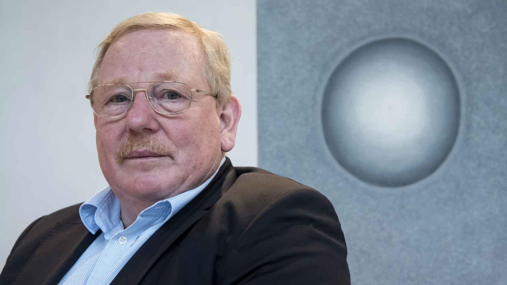 Reinhard Genzel, durante la charla con El Español.