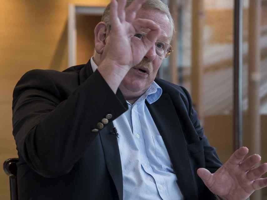 Reinhard Genzel, durante la entrevista.