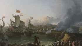 La batalla de la bahía de Vigo, 23 de octubre de 1702, de Ludolf Backhuysen.