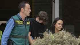 Patrick Nogueira, el asesino de Pioz, a su salida de la comandancia de la Guardia Civil de Barajas.