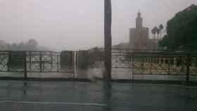 Las fuertes lluvias dejan 90 litros por metro cuadrado en Sevilla