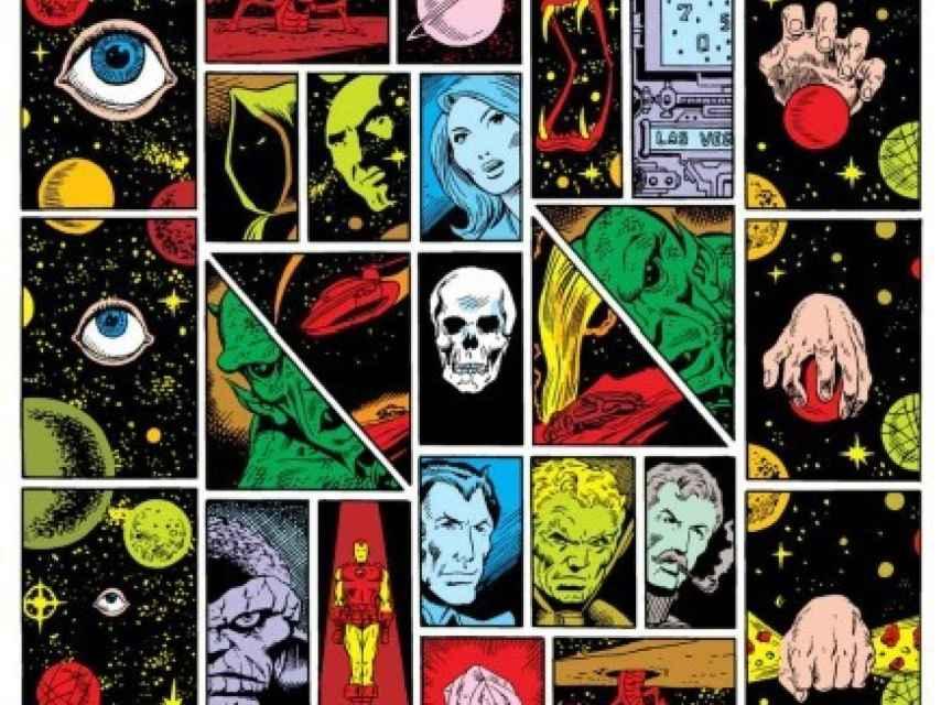 Viñetas del cómic original que muestran la psicodelia.