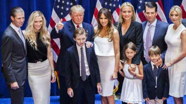La familia Trump al completo.