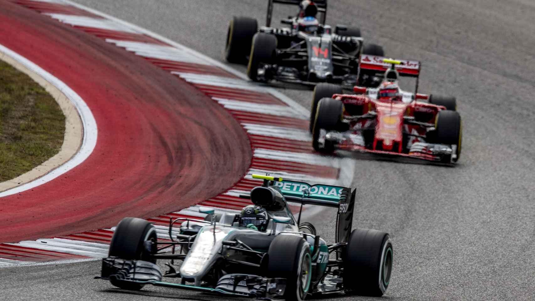Imagen del pasado GP de Estados Unidos de F1.