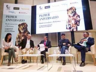 Berta Barbet,  Alberto Penades, Francisco Moreno, Pablo Simón y John Müller