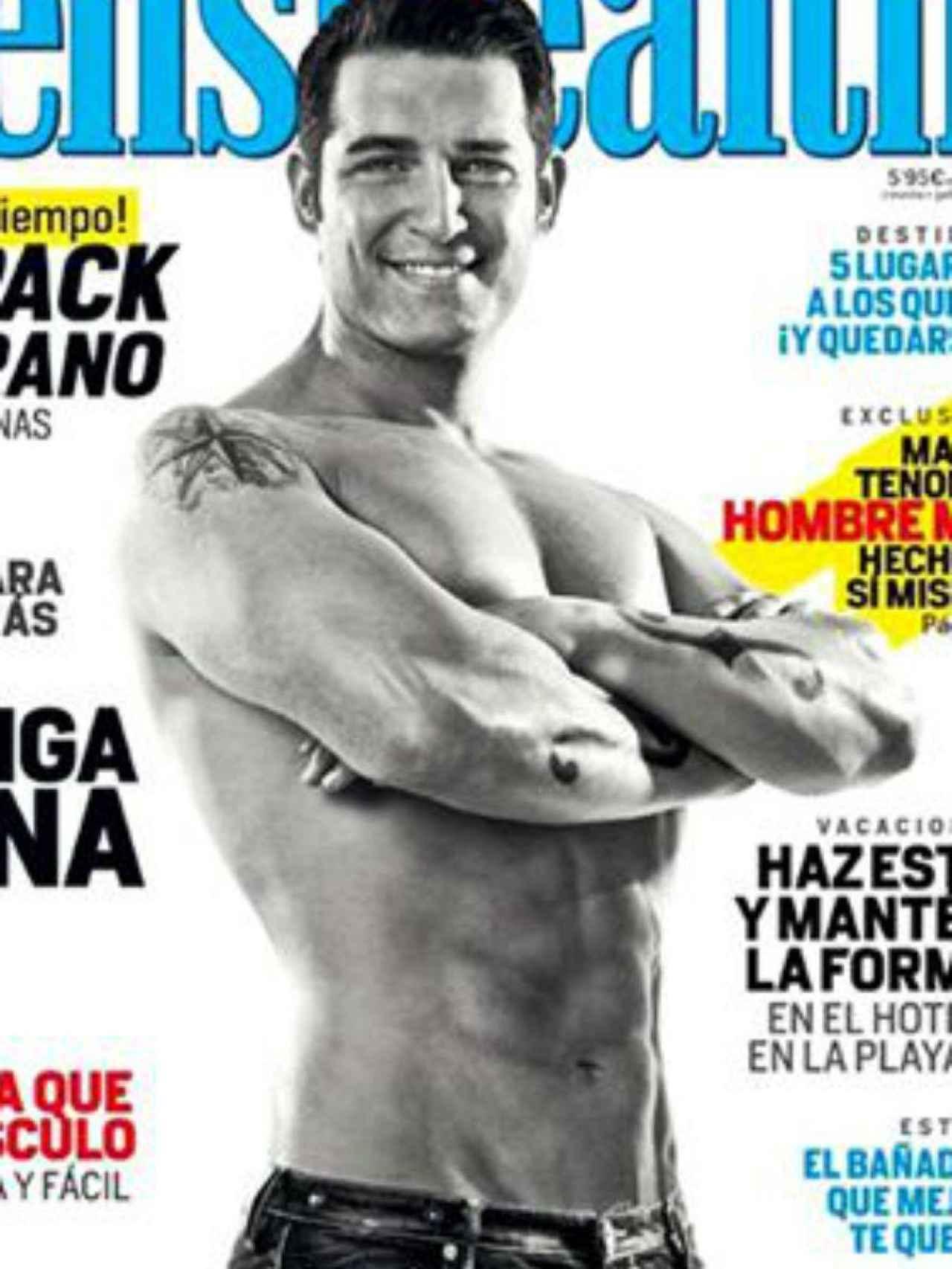 Manu Tenorio muestra sus músculos