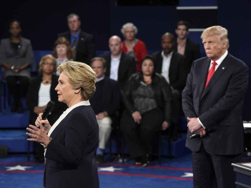 Hillary Clinton y Donald Trump durante uno de sus debates.