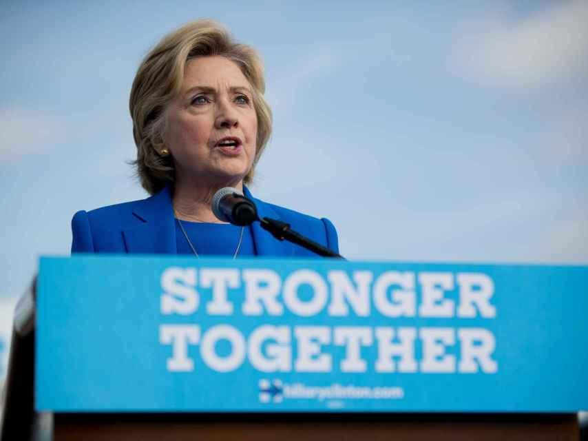 Hillary Clinton durante una de sus comparecencias públicas.
