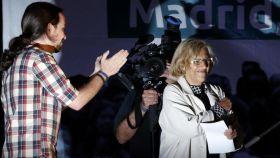 Pablo Iglesias y Manuela Carmena.