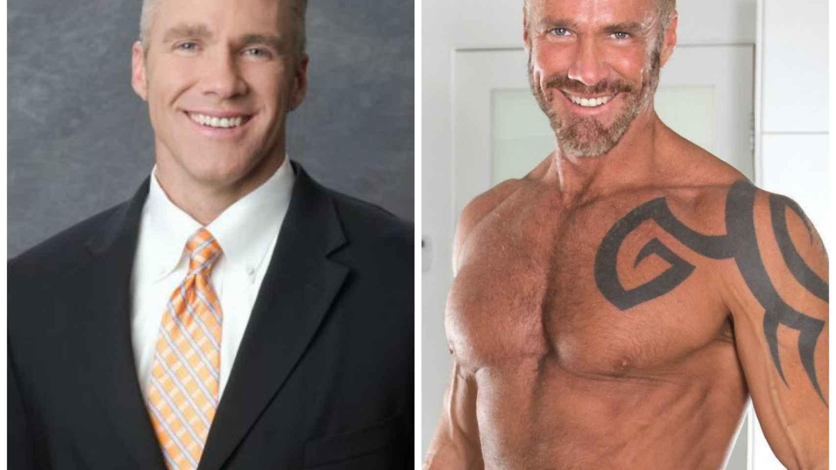 El antes y el después de Jim Walker, ahora conocido como Dallas Steele.