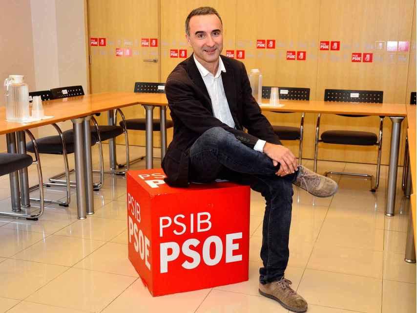 Pons, en la sede del PSIB, la federación balear del PSOE.