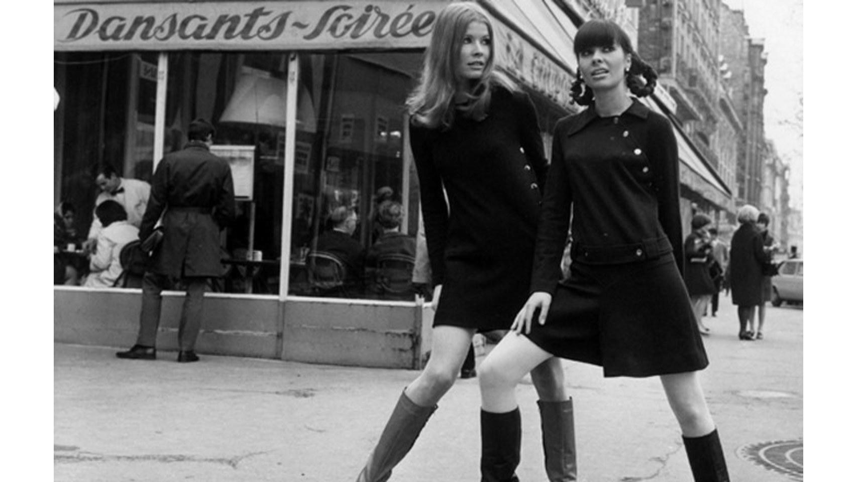Campaña de Mary Quant promocionando sus minifaldas.