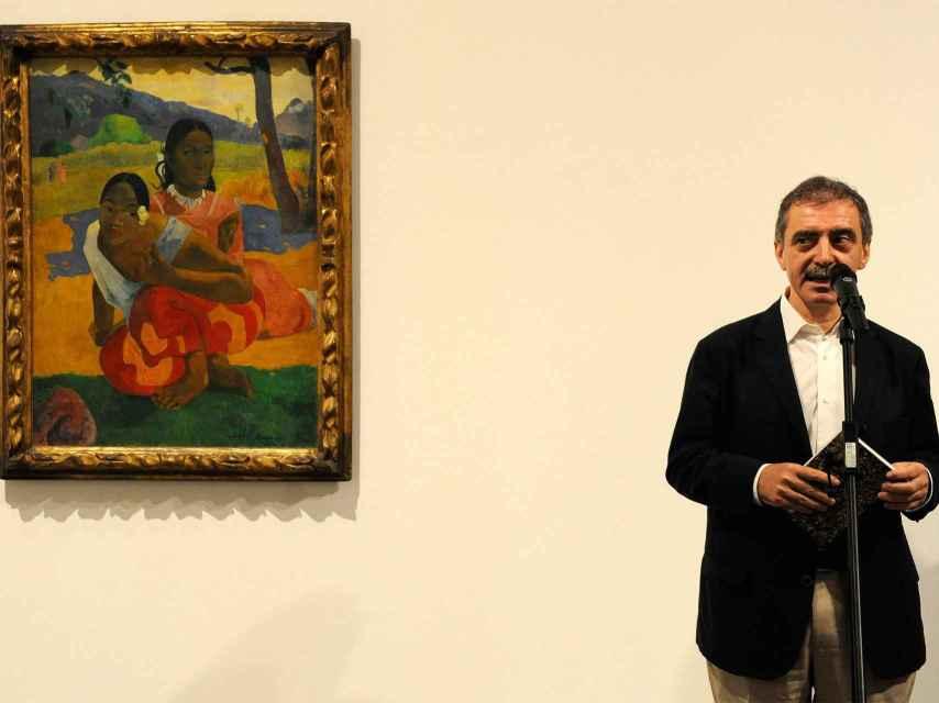 El director del Museo Reina Sofía, Manuel Borja-Villel, junto a Nefea faa ipoipo, de Gauguin.
