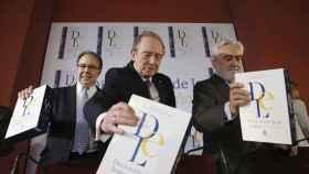 Pedro Álvarez de Miranda, José Manuel Blecua y Darío Villanueva.