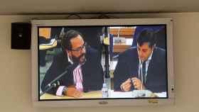 El monitor de la Audiencia Nacional  con la declaración del 'Bigotes'.