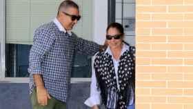 Isabel Pantoja con su hermano Agustín a la salida del centro