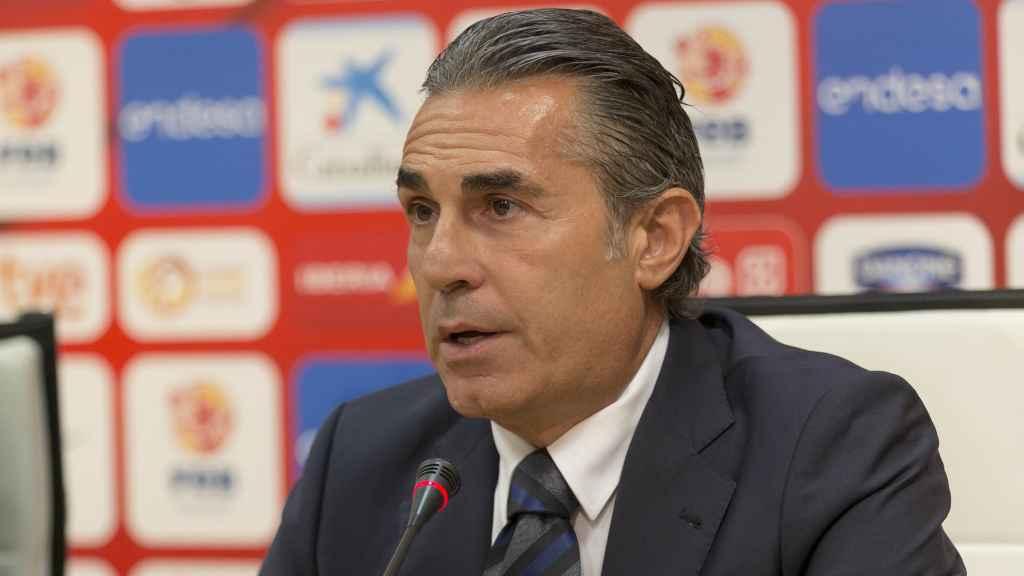 Sergio Scariolo durante el anuncio de su renovación.