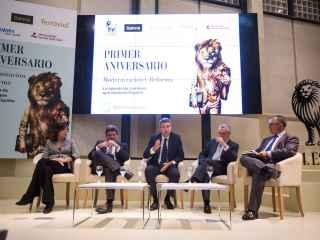 Los participantes en el coloquio sobre las instituciones reguladoras y supervisoras de EL ESPAÑOL