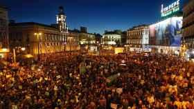 La Puerta del Sol durante la manifestación Rodea el Congreso.