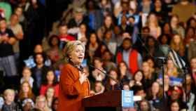 La candidata demócrata Hillary Clinton, en un reciente mitin.