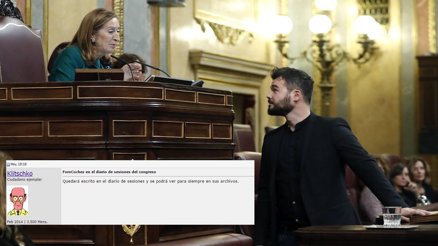 Gabriel Rufián y Ana Pastor