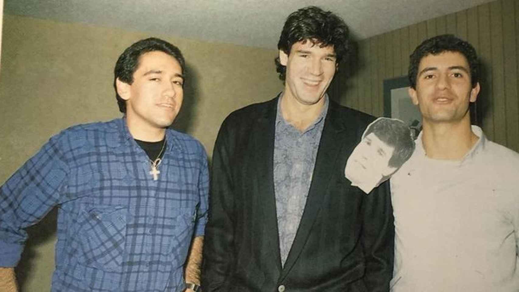 De izquierda a derecha, Sixto Miguel Serrano, Fernando Martín y Manolo Lama.