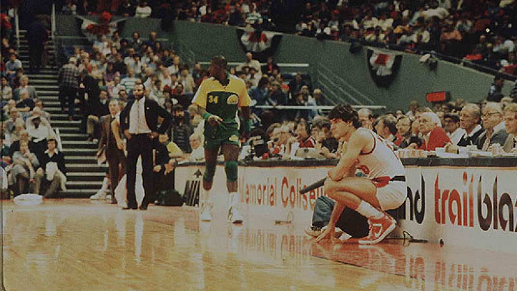 Fernando Martín justo antes de debutar en la NBA.