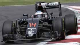 Fernando Alonso durante el GP de México.