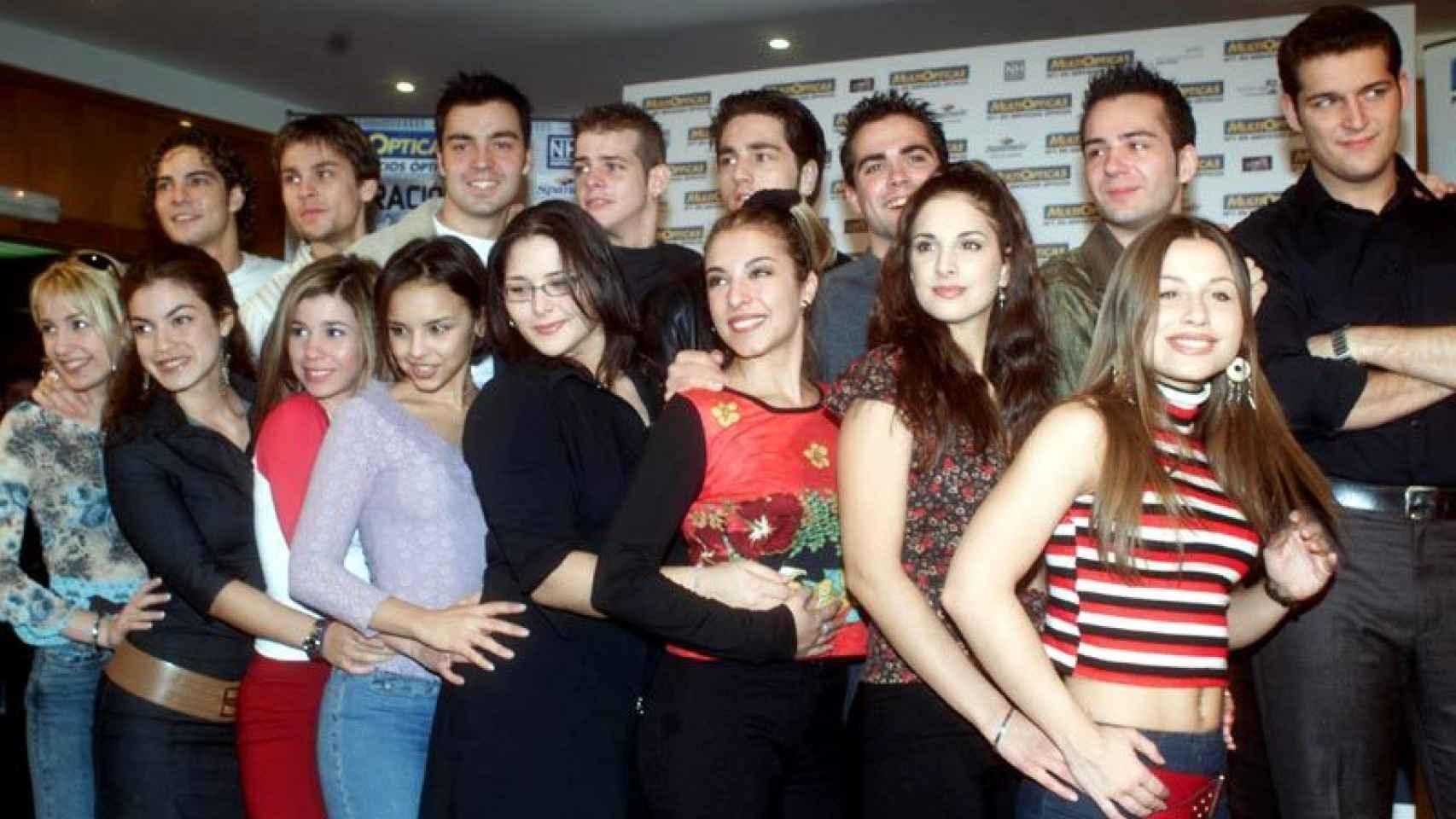 Así eran los 16 concursantes de OT1 hace quince años