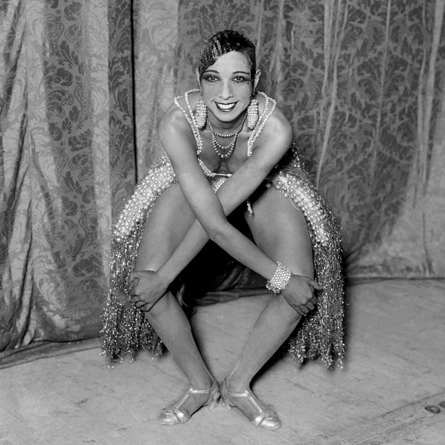 Josephine Baker retratada en Donostia por Ricardo Martín, en 1930.