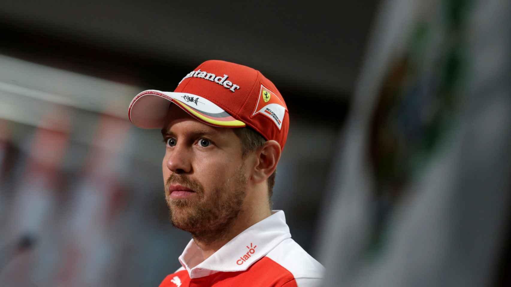 Sebastian Vettel, en la rueda de prensa posterior al GP de México.