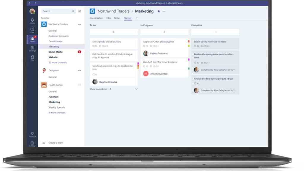 Apps como Microsoft Teams permiten el teletrabajo