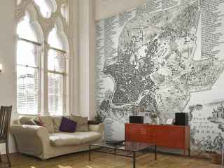 Wallpapered hace papeles pintados personalizados, tanto en formato mapamundi como urbanos de una zona de la ciudad que desees.