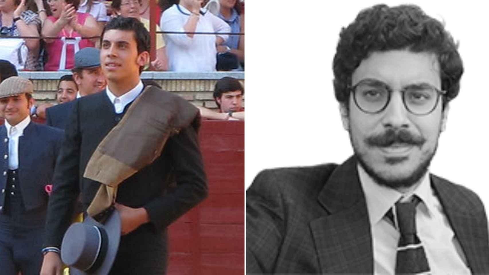A la izquierda, Madueño en una de las corridas. A la derecha, posando para este diario.