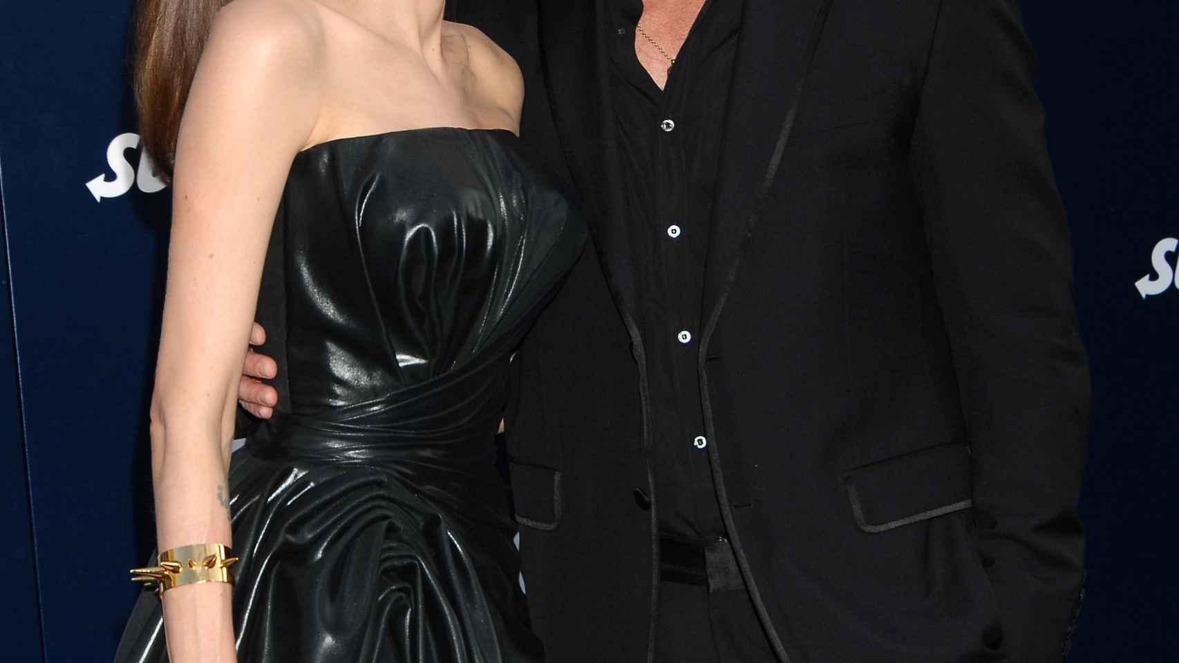 Angelina Jolie y Brad Pitt,el pasado mes de marzo,  cuando aún eran pareja.