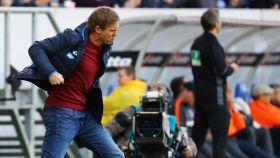 Nagelsmann celebra un gol con el Hoffenheim.